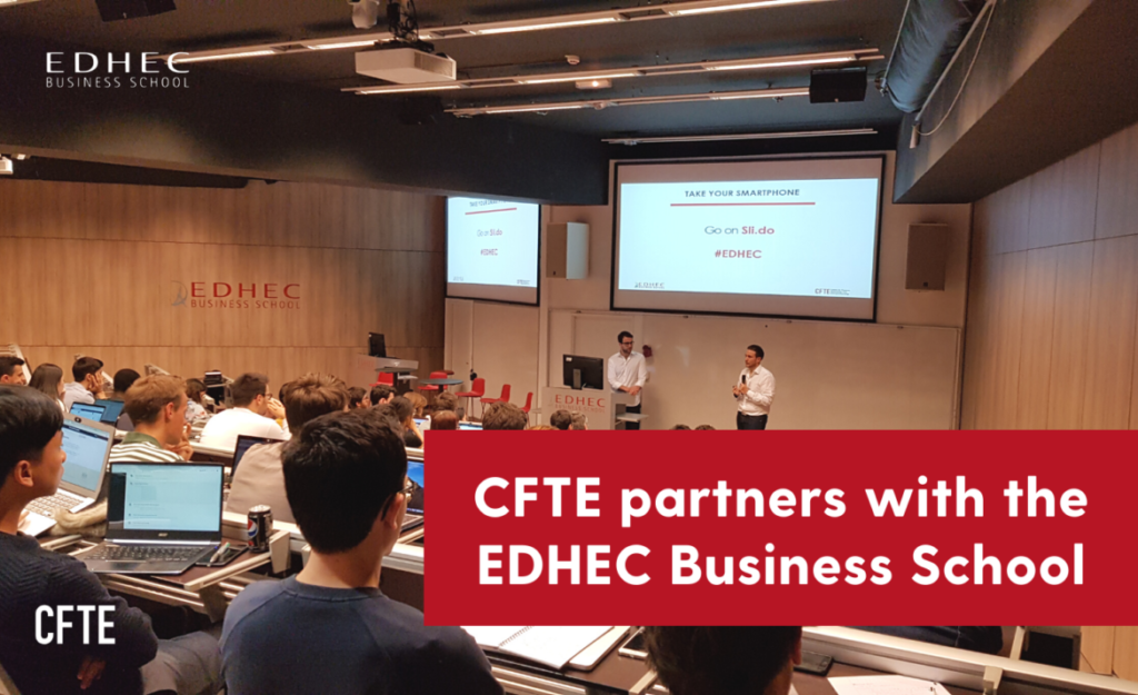 CFTE partners with EDHEC Business School to train master students in Entrepreneurial Finance